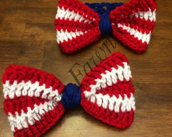 Crochet All American bows and headbands