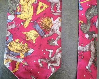 Vintage Astronomical Necktie with constellations and stars