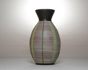 Boho Vase | Vintage Pottery | 60s | Ceramic Vase | Brown Vase | Mid Century | Home Decor