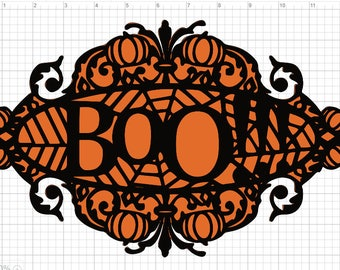 Boo Halloween 2 Pack Truck SVG PDF EPS Dxf & Studio 3 Cut Files