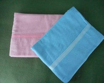 Sleep Soft and Cuddly on Snuggly Flannel Pillowcases - Pink and Blue