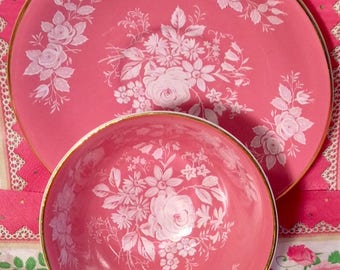 Pretty in Pink-Aynsley Pedestal Teacup and Saucer
