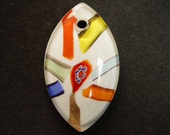 PENDANT formeGOUTTE murano style glass