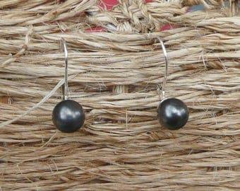 "Lever back earrings Silver ""Grisette"""