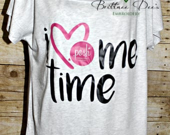 I Love Me Time Boyfriend Shirt - Posh
