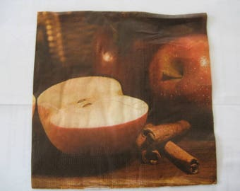 set of 2 napkins Apple Cinnamon