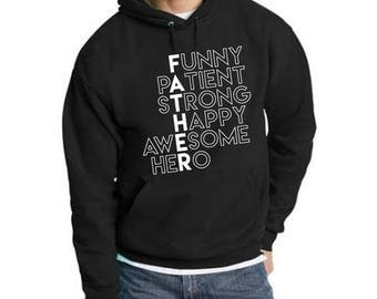 FATHER Vertical Men's Pullover Hoodie
