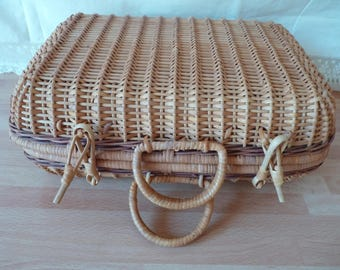 Wicker suitcase