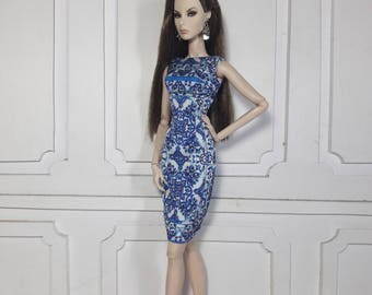 """BLUE CRUISE - Look 1 - Fashion for Fr2, Barbie, Silkstone and same size 12"""" doll"""