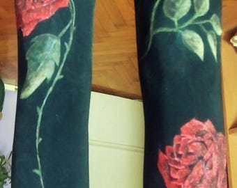 Hand painted tights