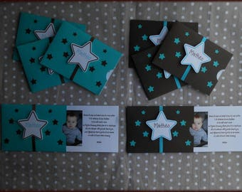 Star themed invitation or announcement