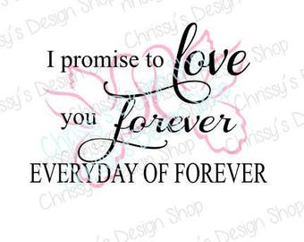 Wedding quote svg file / love quote svg / love forever / dxf / eps / pdf / sign template / wedding template / wall quote svg / doves svg