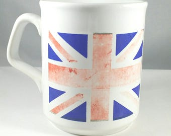 Britain flag coffee cup, British flag cup, coffee mug, British tea cup, Britain flag, coffee cup, Made in England, gift , birthday gift