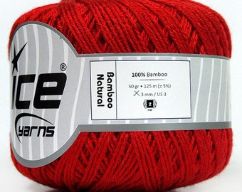 100% bamboo ICE red color cotton balls!
