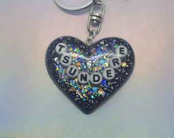 Tsundere Heart Keychain