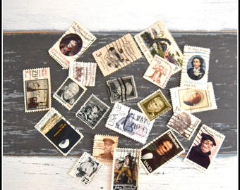 Vintage Cancelled Used Postage Stamps - Neutral US Stamps - 1920's - 1980's