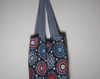 Multicolor Tote Bag, Shoulder Bag, Beach Bag, Library Bag, Travel Bag, Everyday Bag, Gift for Her