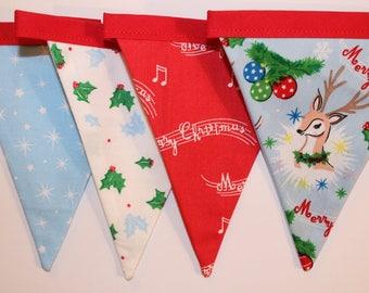 Christmas bunting, christmas banner, christmas garland, deer christmas bunting, christmas decoration, xmas banner