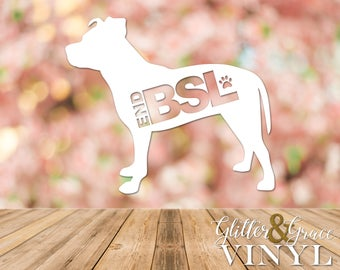 End BSL Decal - End Breed-specific Legislation - YETI Decal - Car Decal - Water Bottle Decal - Pet Love - Personalized - Made To Order