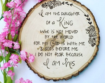 Daughter of the King - Wood-burned Plaque