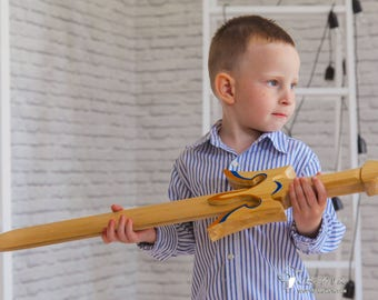 Wooden Sword Trident, Wooden toy, Wooden Weapon