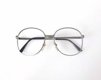 1990's rounded metal vintage glasses frame