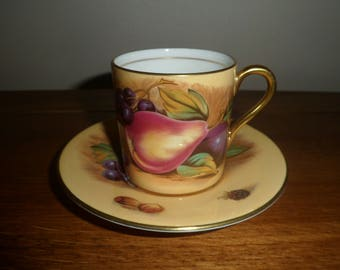 Aynsley Orchard Gold Espresso / Coffee Cup and Saucer