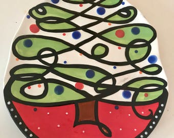 MSC Mainstreet Collection Christmas Tree Plate