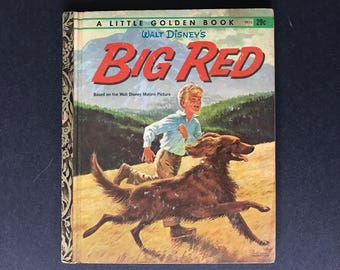 Walt Disney's Big Red Vintage Little Golden Book by Kathleen Daly Illustrated by Mel Crawford
