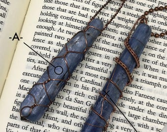 Kyanite mini wand necklaces