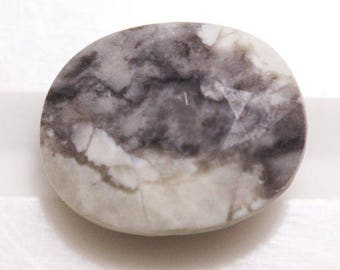 Howlite 3.72cts Oval Cut 10.35 x 8.35mm H3-3.5 y9579 Loose Faceted Gemstone Jewelry Making Semi Precious