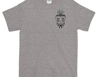 Crying Sacred Heart Short-Sleeve T-Shirt