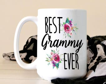 Best Grammy Ever Coffee Mug - Grammy Gift - Christmas Gift For Grandma - Grandparents Day - Gift From Grandchild - Pregnancy Announcement
