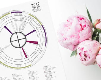 2018 LITURGICAL CALENDAR - Poster Only - Gifts under 20 - Gift for Baptism, First Communion, Confirmation