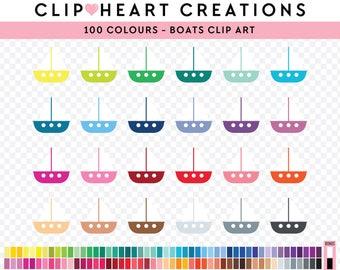 100 Boat Clipart, Commercial use, PNG,  Digital clip art, Digital images, Rainbow digital scrapbooking clip art, sail boats ,sailing