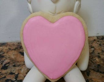 Heart cookies for any occasion, but work well as Valentine's Day favors or as pregnancy announcements!