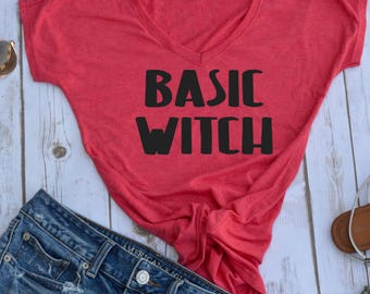 Basic Witch Tshirt- halloween tshirt- funny halloween tshirt- womens halloween shirt- halloween party shirt- fall t-shirt