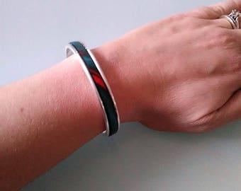 Mina multicolor leather bracelet / small size