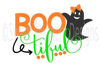 Boo tiful bootiful ghost DXF PDF SVG instant download design for cricut or silhouette