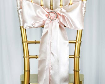 Satin Chair Sash - Wedding Sashes - 5 pcs