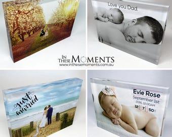 Acrylic Photo Block / Photo Frame - Personolized