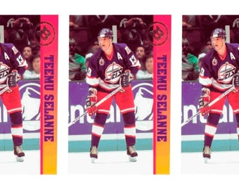 5 - 1993 Ballstreet Teemu Selanne Hockey Card Lot Winnipeg Jets