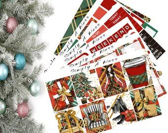 Classic Christmas Full Kit | Erin Condren Vertical Planner Stickers