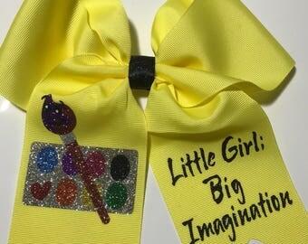 Little girl, big imagination