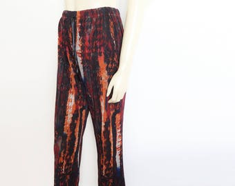 Boho Trousers, UK14, Bohemian Clothing, Crazy Print, Women's Trousers, Baggy Trousers, Clothing, Hippie Clothes, Hippy, Gypsy Pants