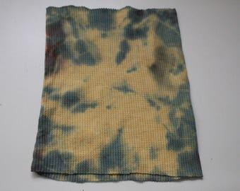 Yellow and olive green tie dye headband