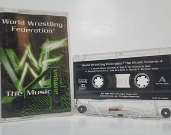 Vintage WWF The Music Volume 4 Cassette WWE Wrestling Themes Stone Cold Y2J 1999 90s Nostalgia WCW