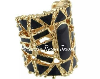 Gold Noir Statement Ring