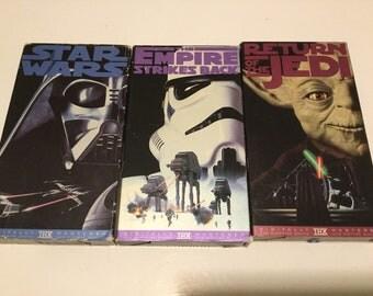 Vintage Star Wars TRilogy VHS Tapes - 3 pack