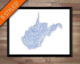 USA Map Art Printable America Map Print USA Print America - Us map poster printable